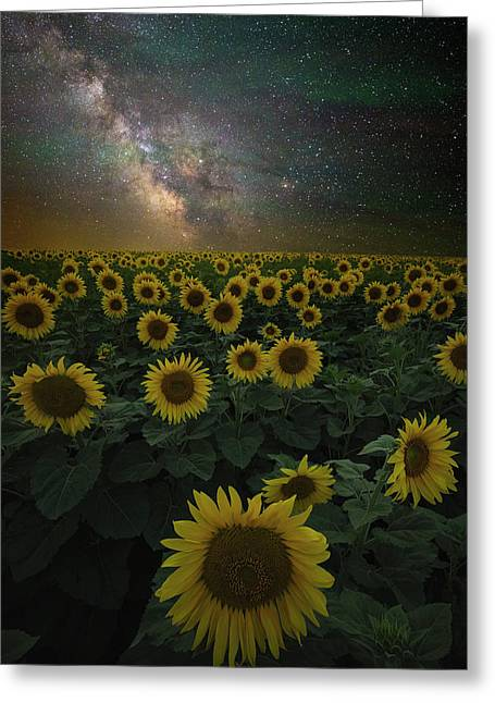 Greeting Card featuring the photograph Night Of A Billion Suns by Aaron J Groen
