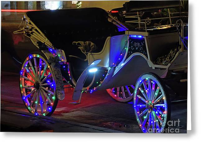 Night Of Lights Carriage Ride Greeting Card