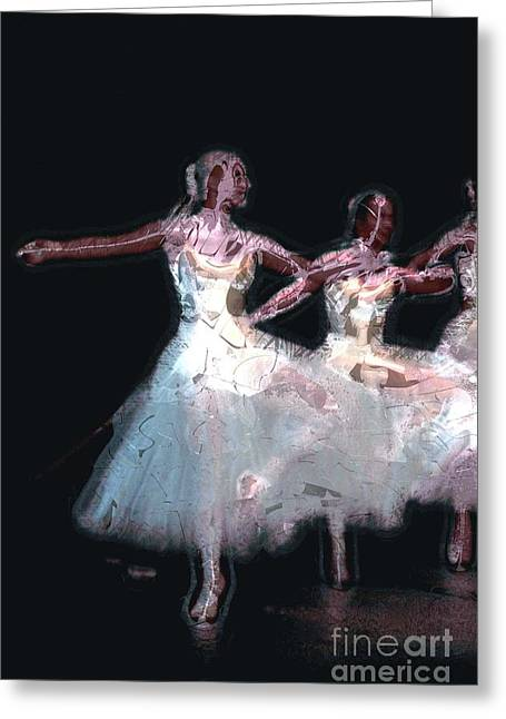 Night Of The Ballet Greeting Card