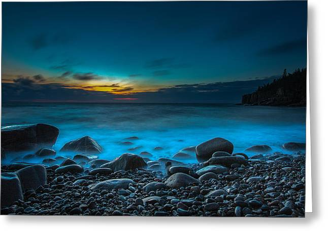Night On Acadia Greeting Card by Laurie Martin