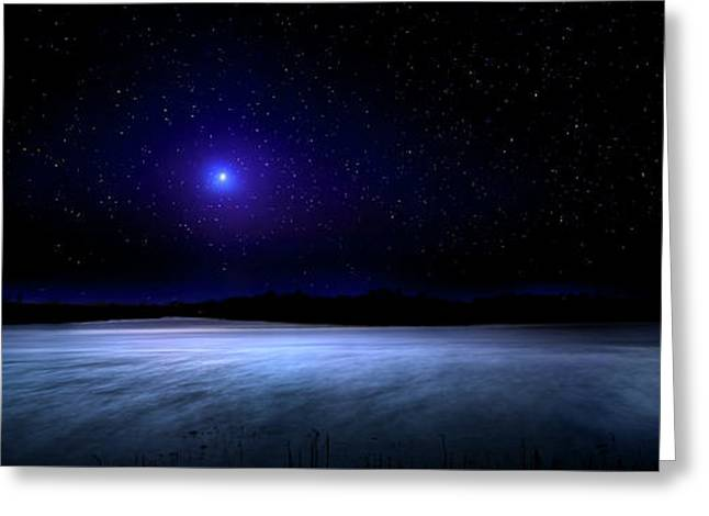 Night On Mystic River Greeting Card by Mark Andrew Thomas