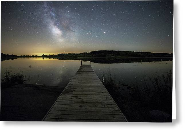 Night On The Dock Greeting Card