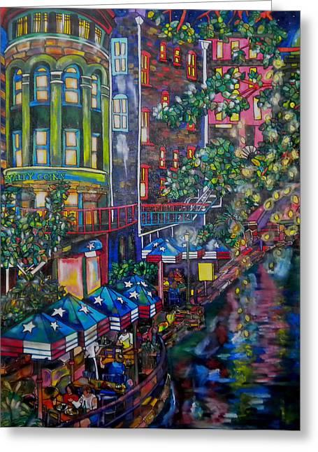 Night On The River Greeting Card by Patti Schermerhorn