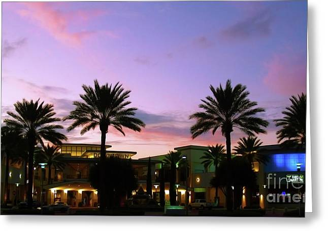 Night On The Town Palm Beach Florida Photo 515 Greeting Card