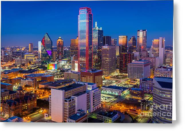 Night Over Dallas Greeting Card by Inge Johnsson