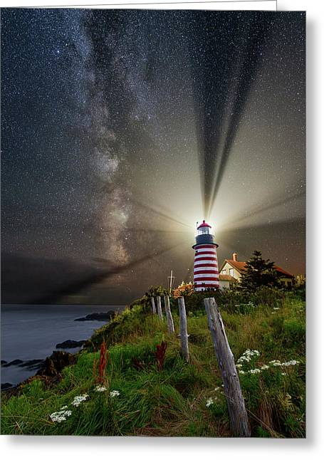 Night Over West Quoddy Greeting Card