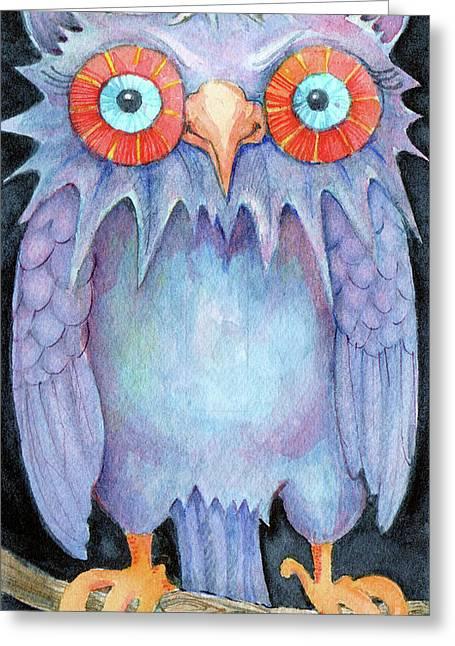 Night Owl Greeting Card