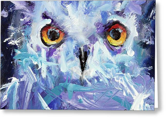 Night Owl Greeting Card by Ron Krajewski and Metro