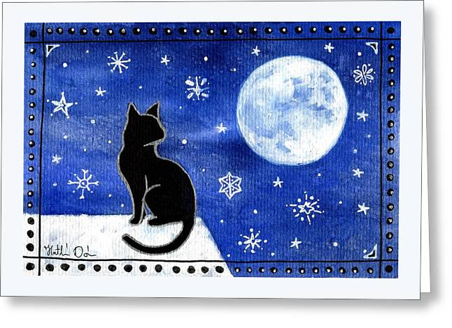 Night Patrol At Wintertime Greeting Card