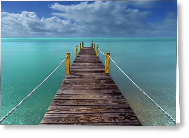 Night Pier Greeting Card by Marco Crupi