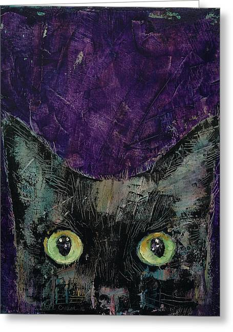 Night Prowler Greeting Card by Michael Creese