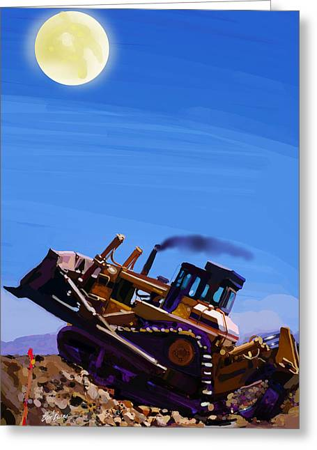 Night Push Greeting Card by Brad Burns