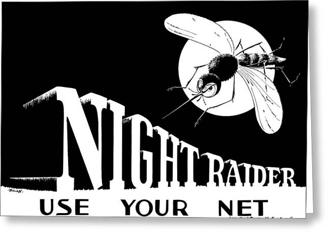 Night Raider Ww2 Malaria Poster Greeting Card