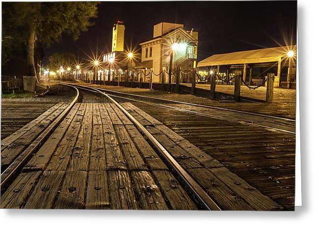 Night Rails Greeting Card
