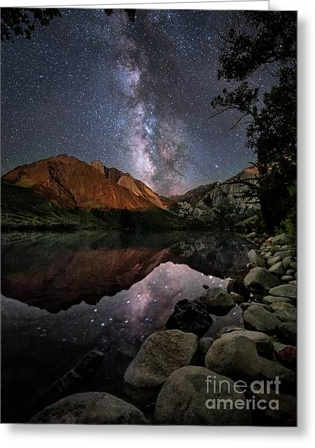 Night Reflections Greeting Card by Melany Sarafis