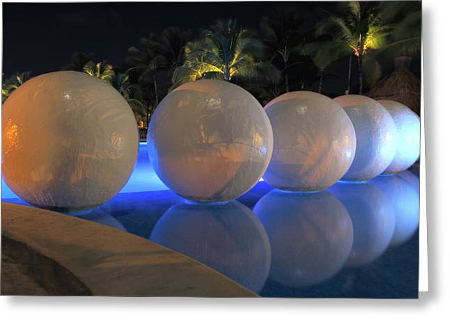 Greeting Card featuring the photograph Night Reflections by Shane Bechler