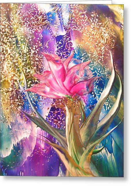 Night Rose Greeting Card by John Vandebrooke