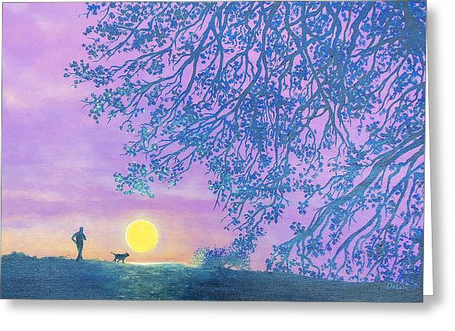 Night Runner Greeting Card by Susan DeLain