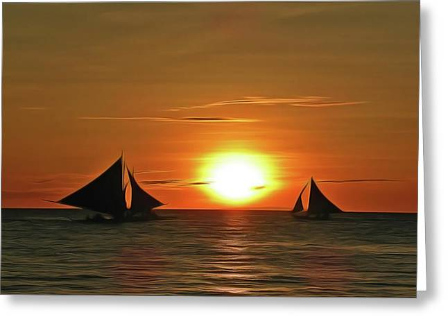 Night Sail Greeting Card