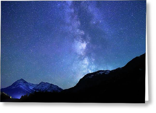 Night Sky In David Thomson Country Greeting Card