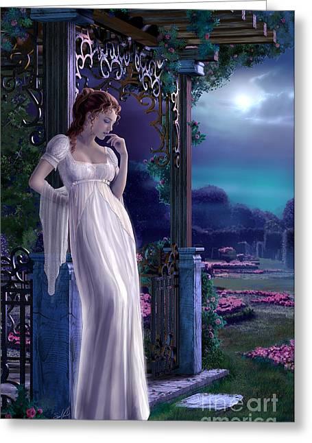 Night Greeting Card by Sonia Verdu