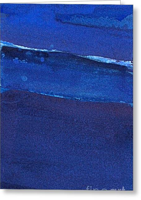 Greeting Card featuring the painting Night Surf by Diane Ursin