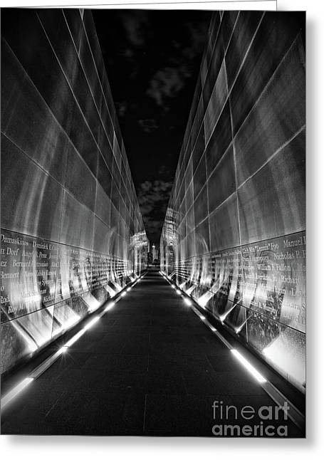 Night Time At Empty Sky Memorial Greeting Card