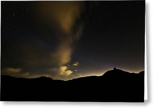 Night Time At Palo Duro Canyon State Park - Texas Greeting Card