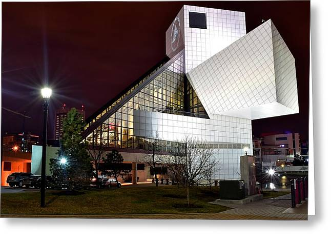 Night Time At The Rock Hall Greeting Card