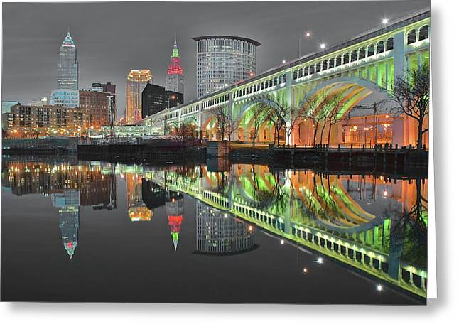 Greeting Card featuring the photograph Night Time Glow by Frozen in Time Fine Art Photography