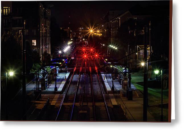 Night Tracks Greeting Card