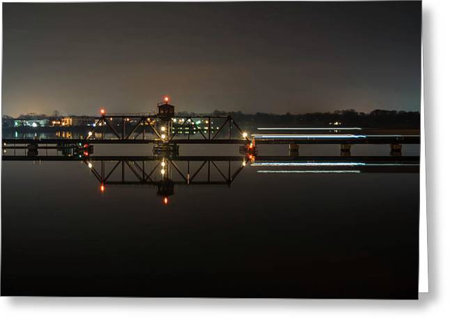 Night Train Of Baltimore Greeting Card by C U Fotography