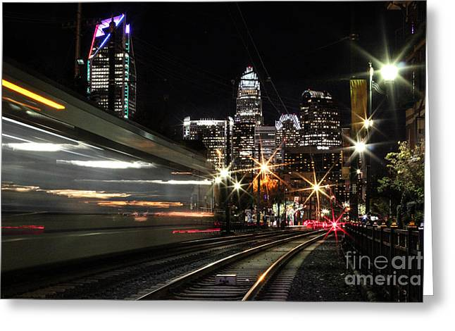 Night Train Greeting Card by Robert Yaeger