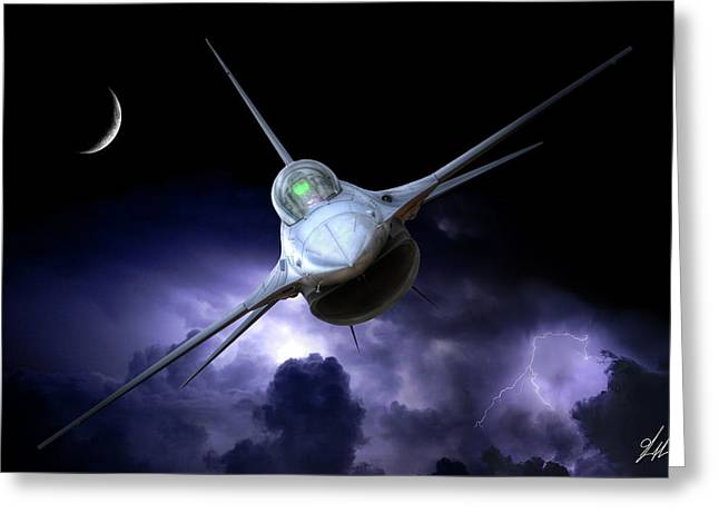 Night Viper Alpha Greeting Card by Brandon Griffin