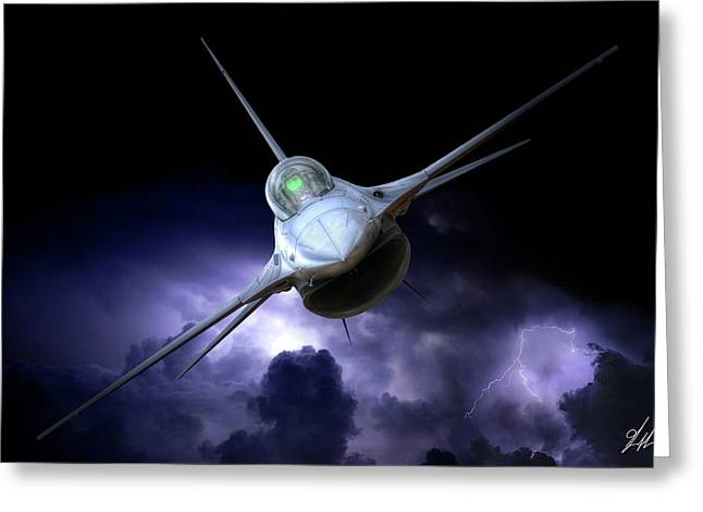 Night Viper Greeting Card by Brandon Griffin