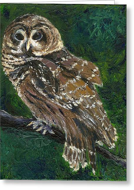Night Watch Greeting Card by Alice Faber
