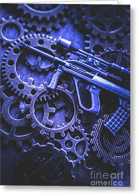 Night Watch Gears Greeting Card by Jorgo Photography - Wall Art Gallery