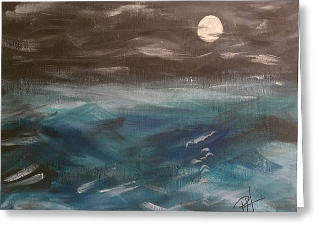 Night Waves Greeting Card by Patti Spires Hamilton