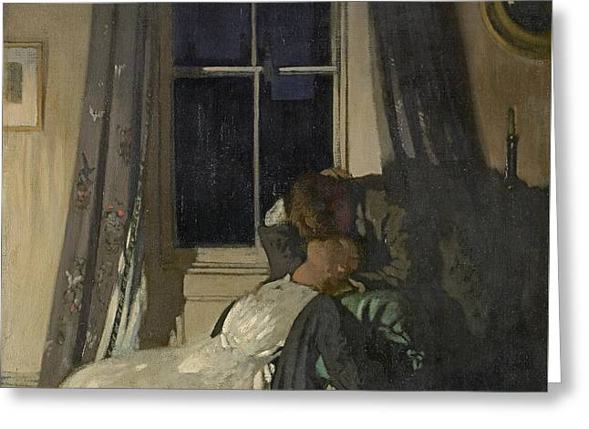 Night  Greeting Card by William Orpen
