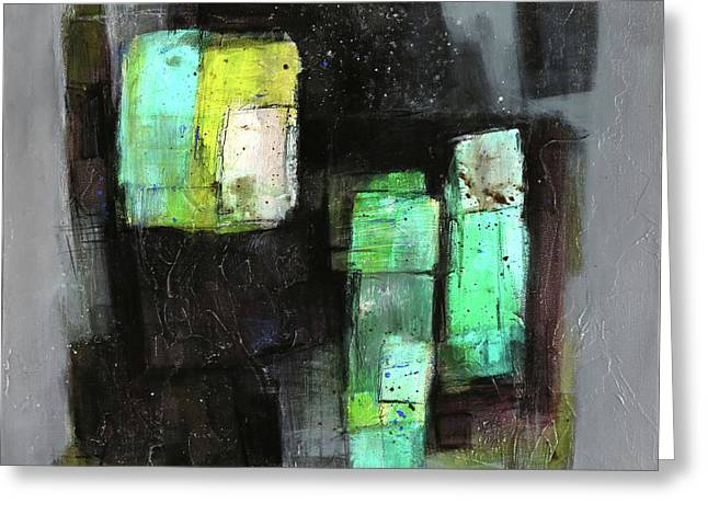 Texture Of Night Painting Greeting Card
