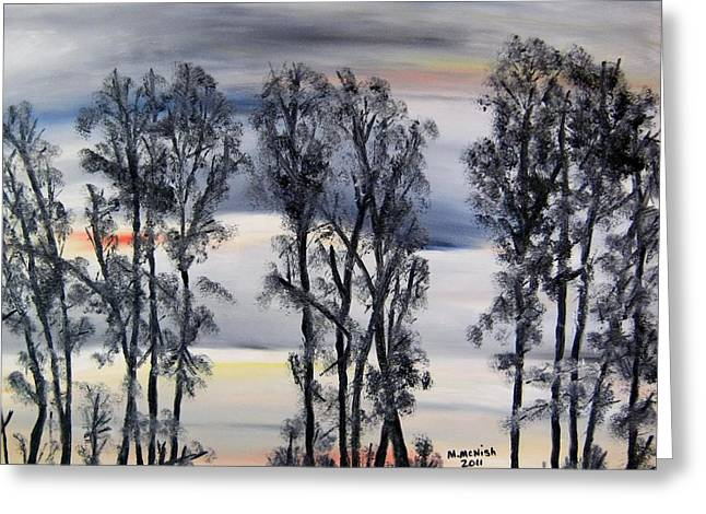 Greeting Card featuring the painting Nightfall Approaching by Marilyn  McNish