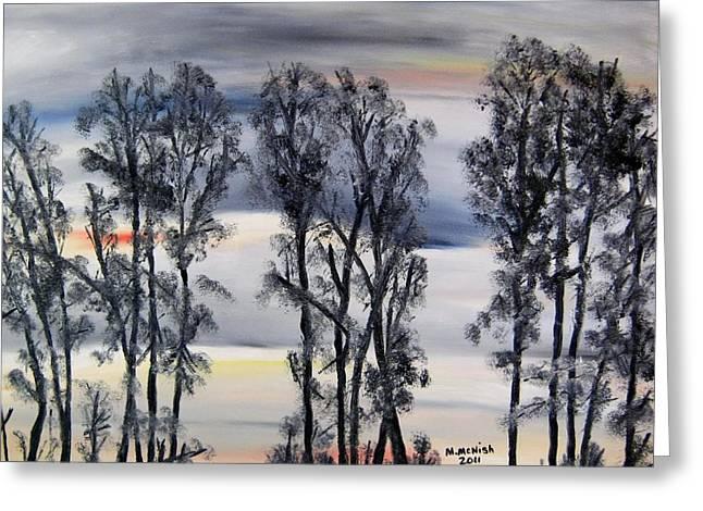 Nightfall Approaching Greeting Card by Marilyn  McNish