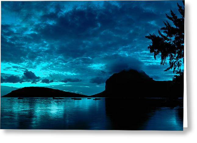 Nightfall In Mauritius Greeting Card