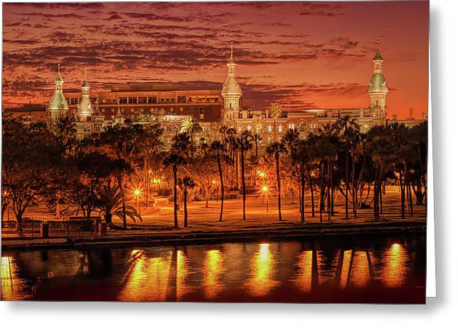 Nightfall In Tampa Greeting Card