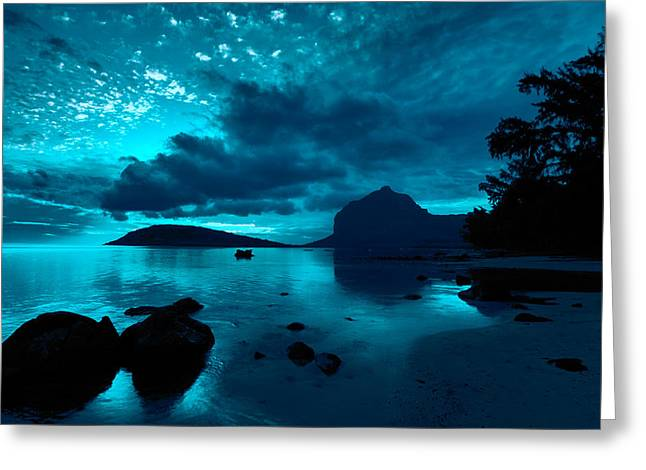 Nightfall Near Le Morne Greeting Card