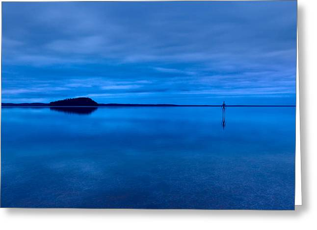 Nightfall Over Lake Ballard Greeting Card