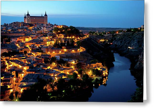 Nightfall Over Toledo Greeting Card