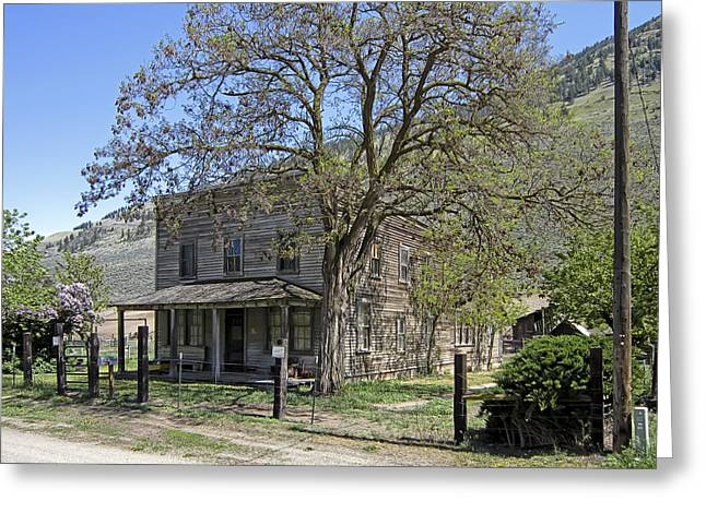 Nighthawk Ghost Town Hotel - Washington State Greeting Card by Daniel Hagerman