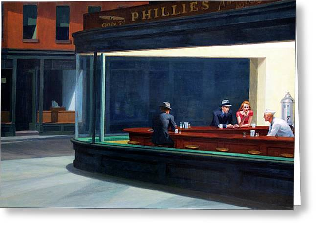 Nighthawks By Edward Hopper Greeting Card