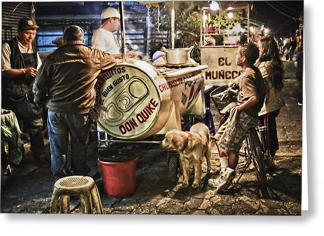 Nightlife In Guatemala Greeting Card